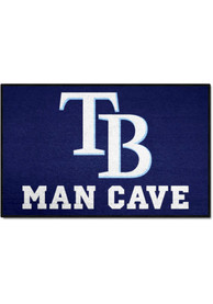 Tampa Bay Rays 19x30 Man Cave Starter Interior Rug