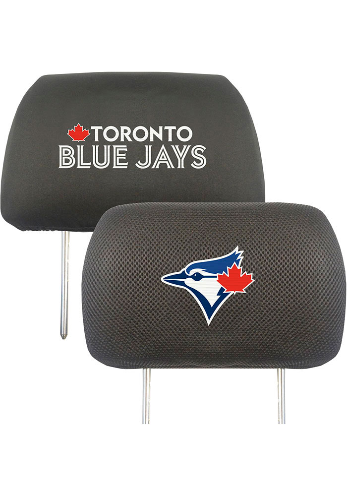 Sports Licensing Solutions Toronto Blue Jays 10x13 Auto Head Rest Cover - Black - Image 1