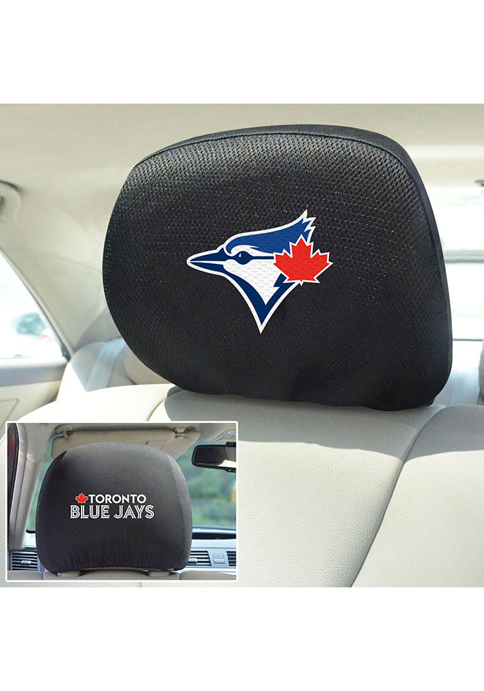 Sports Licensing Solutions Toronto Blue Jays 10x13 Auto Head Rest Cover - Black - Image 2