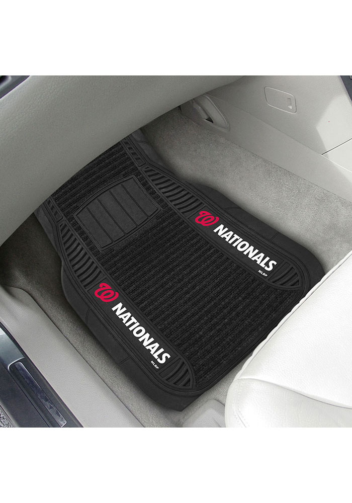 Sports Licensing Solutions Washington Nationals 20x27 Deluxe Car Mat - Black - Image 2