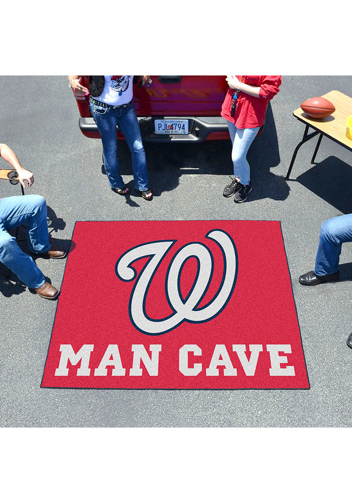 Washington Nationals 60x71 Man Cave Tailgater Mat Other Tailgate - Image 2