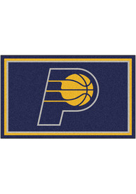 Indiana Pacers 4x6 Plush Interior Rug