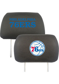 Sports Licensing Solutions Philadelphia 76ers 10x13 Auto Head Rest Cover - Black