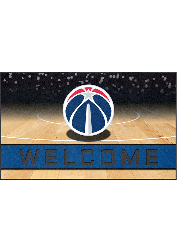 Washington Wizards 18x30 Crumb Rubber Door Mat - Image 1