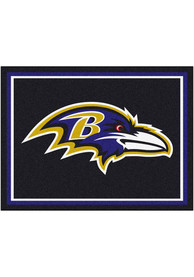 Baltimore Ravens 8x10 Plush Interior Rug