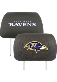 Sports Licensing Solutions Baltimore Ravens 10x13 Auto Head Rest Cover - Black
