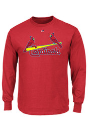 Majestic St Louis Cardinals Red Rally Loud Tee