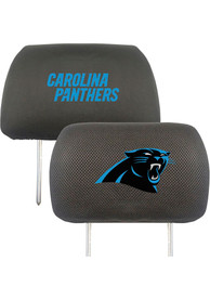 Sports Licensing Solutions Carolina Panthers 10x13 Auto Head Rest Cover - Black