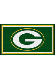 Green Bay Packers 3x5 Plush Interior Rug