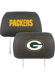 Sports Licensing Solutions Green Bay Packers 10x13 Auto Head Rest Cover - Black