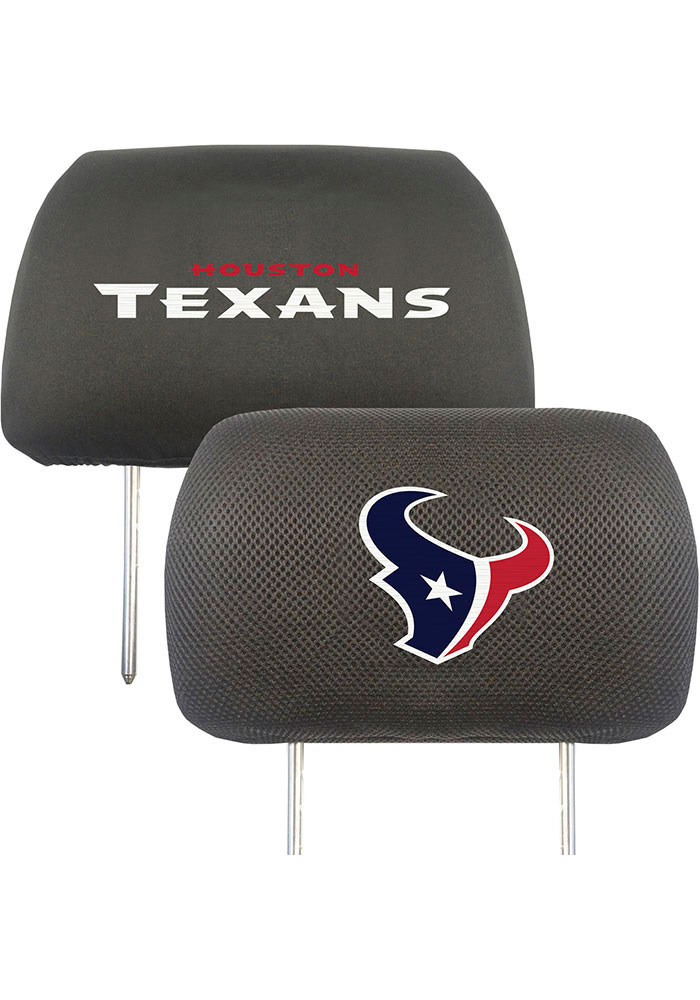 Sports Licensing Solutions Houston Texans 10x13 Auto Head Rest Cover - Black - Image 1