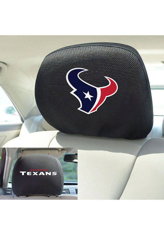 Sports Licensing Solutions Houston Texans 10x13 Auto Head Rest Cover - Black - Image 2