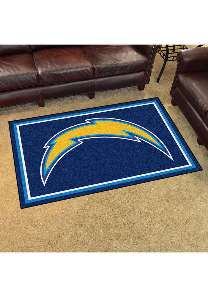 Los Angeles Chargers 4x6 Plush Interior Rug - Image 2