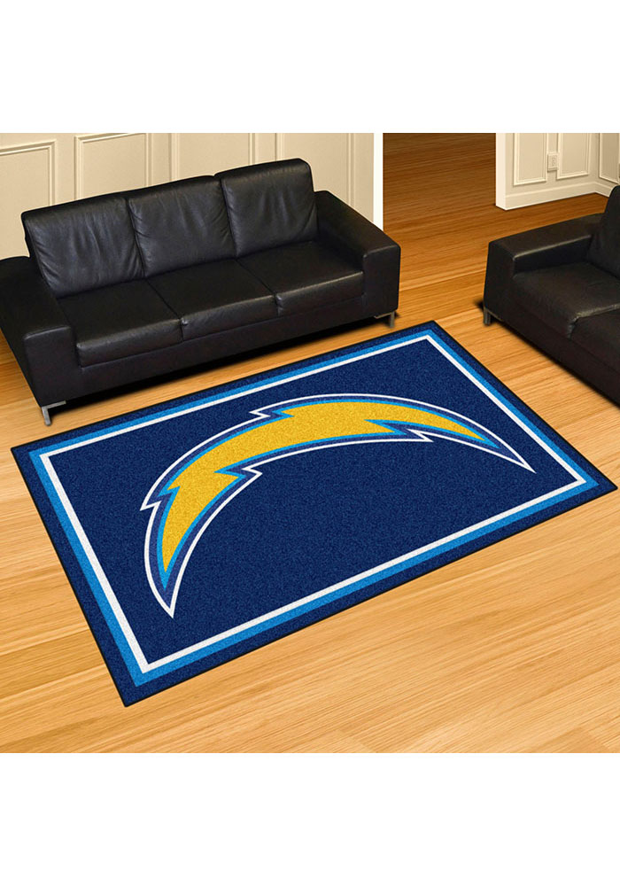 Los Angeles Chargers 5x8 Plush Interior Rug - Image 2