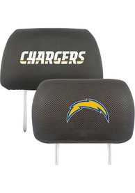 Sports Licensing Solutions Los Angeles Chargers 10x13 Auto Head Rest Cover - Black