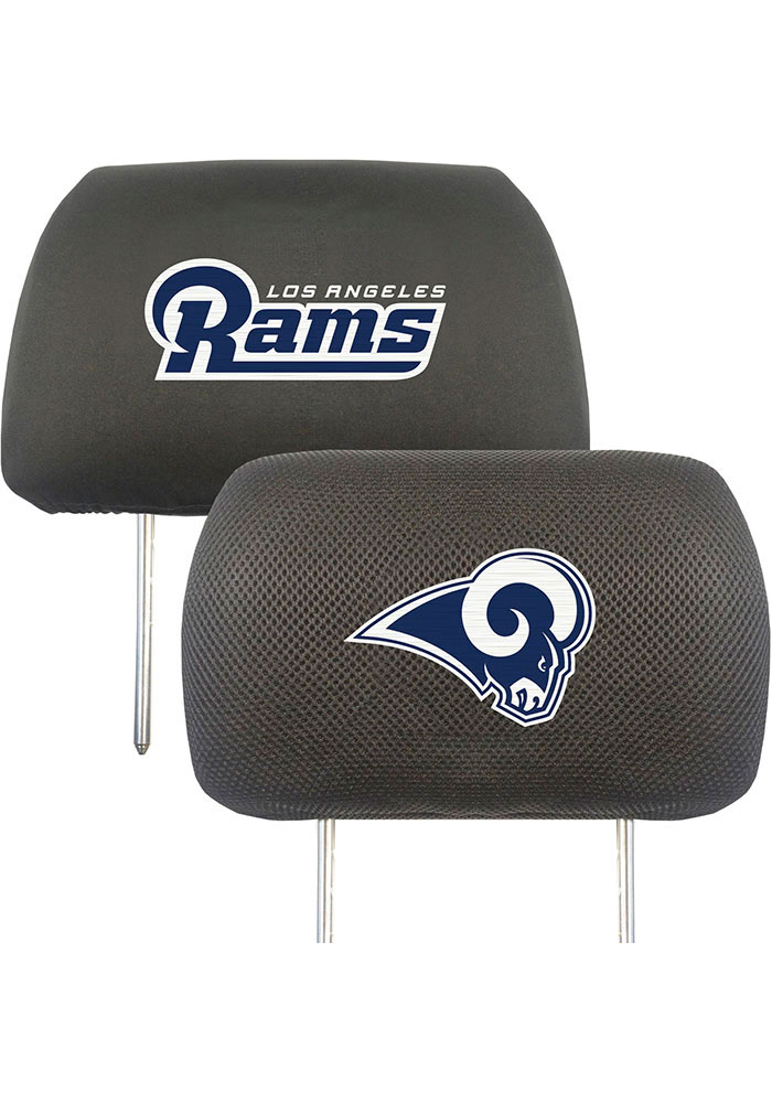 Sports Licensing Solutions Los Angeles Rams 10x13 Auto Head Rest Cover - Black - Image 1