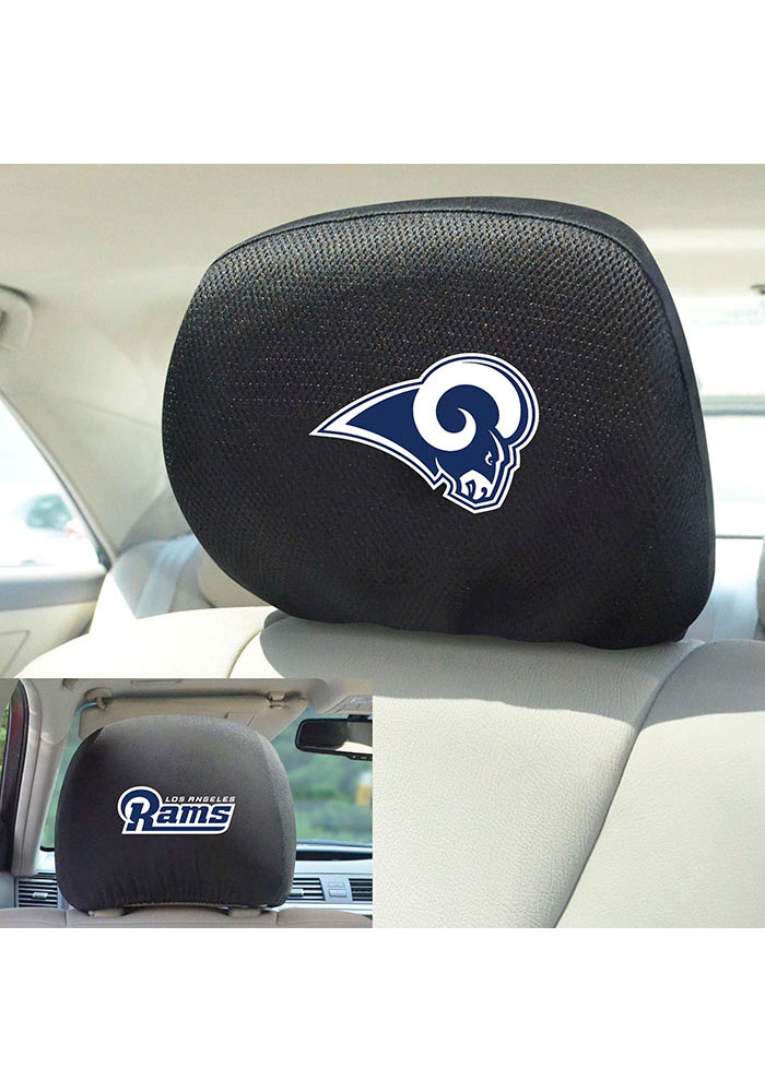 Sports Licensing Solutions Los Angeles Rams 10x13 Auto Head Rest Cover - Black - Image 2