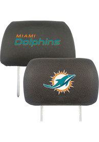 Sports Licensing Solutions Miami Dolphins 10x13 Auto Head Rest Cover - Black