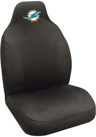 Sports Licensing Solutions Miami Dolphins Team Logo Car Seat Cover - Black