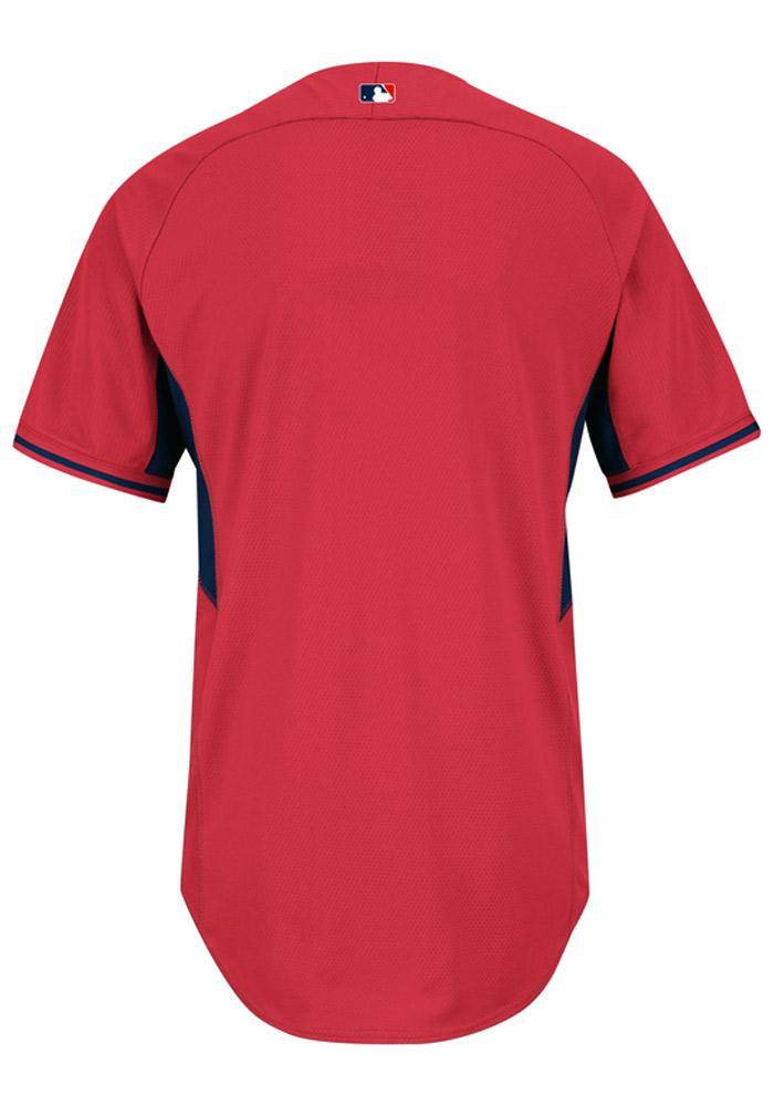 St Louis Cardinals Mens Majestic Batting Practice Jersey - Red - Image 3