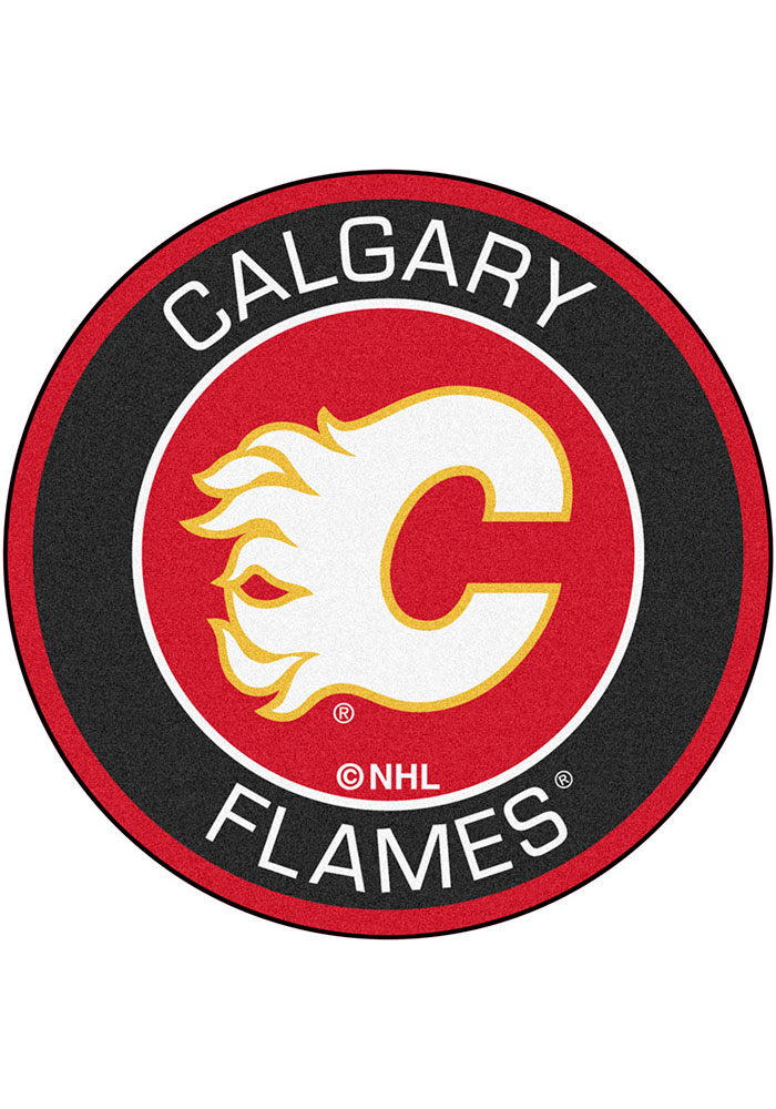 Calgary Flames 27 Roundel Interior Rug - Image 1