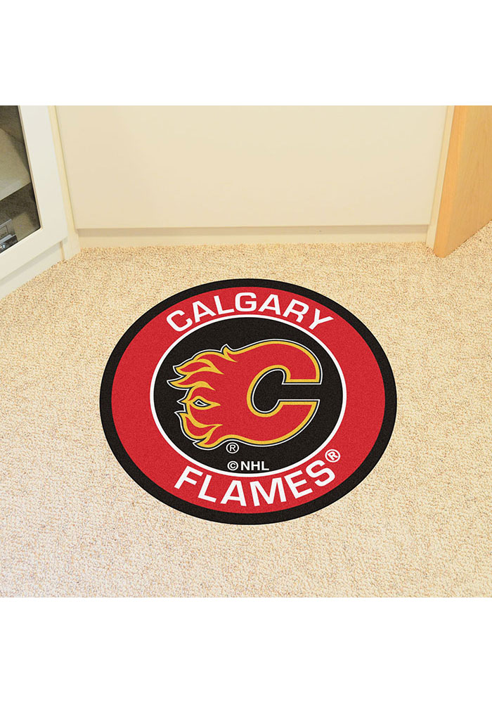 Calgary Flames 27 Roundel Interior Rug - Image 2