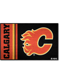Calgary Flames 19x30 Uniform Starter Interior Rug