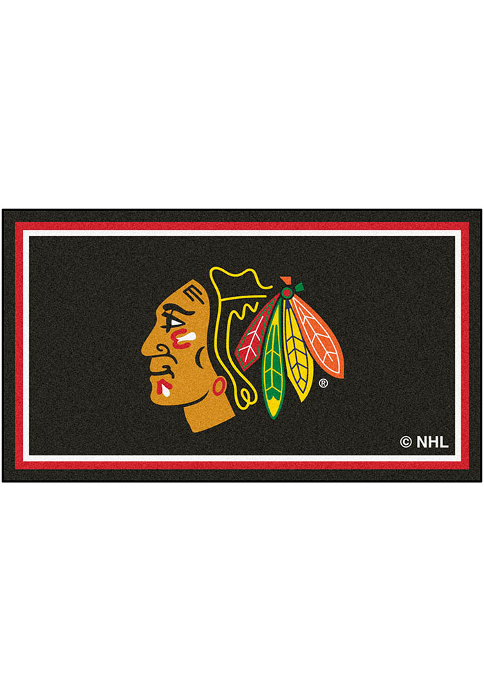 Chicago Blackhawks 3x5 Plush Interior Rug - Image 1
