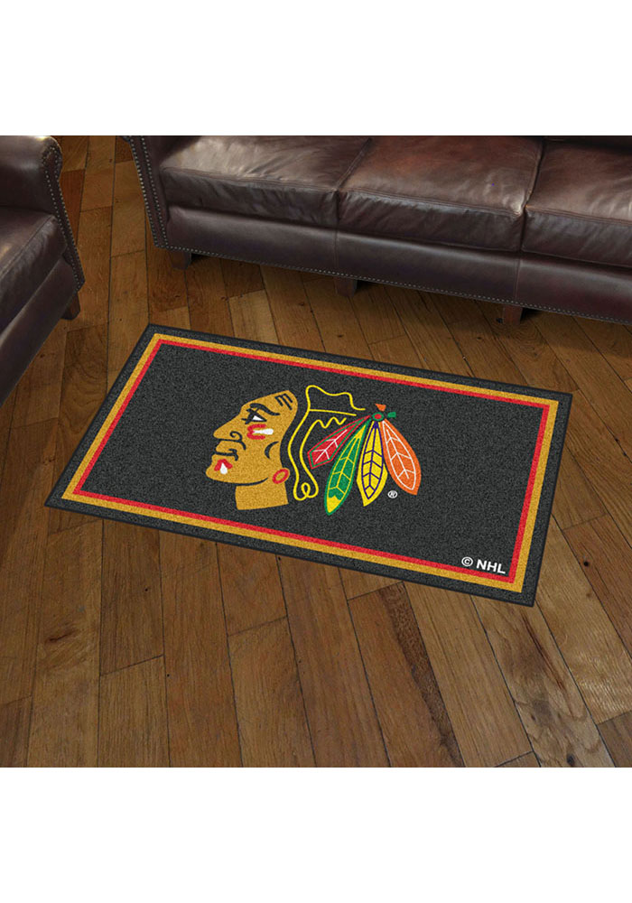 Chicago Blackhawks 3x5 Plush Interior Rug - Image 2