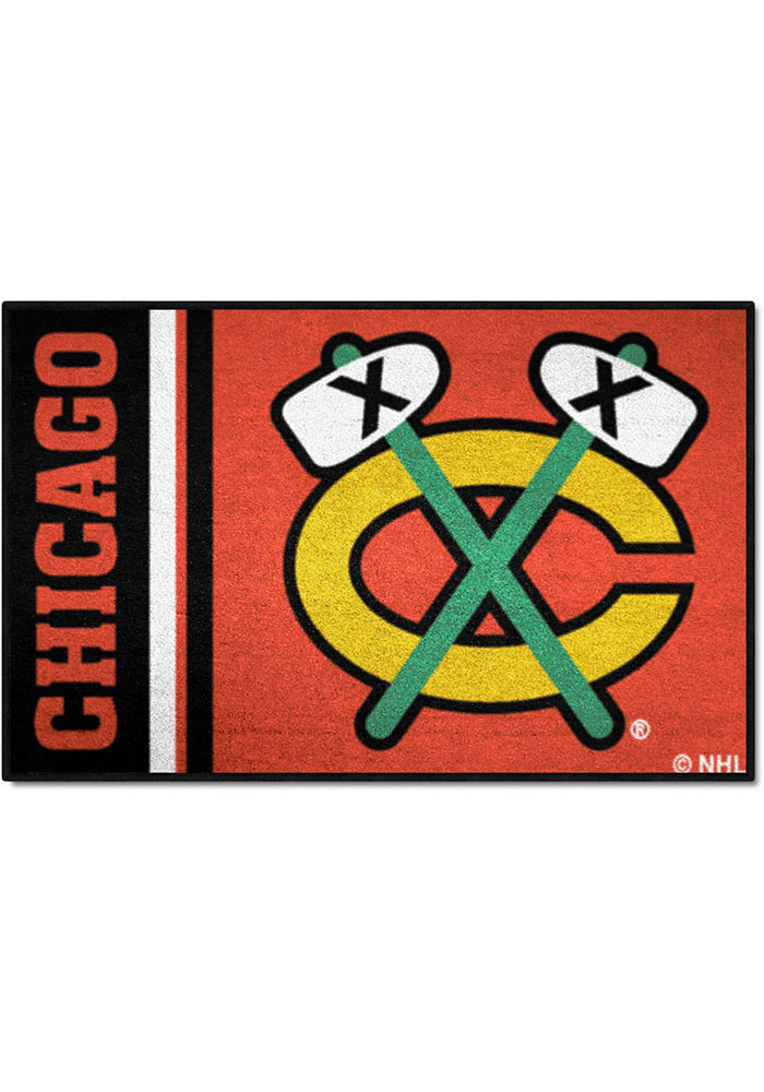 Chicago Blackhawks 19x30 Uniform Starter Interior Rug - Image 1