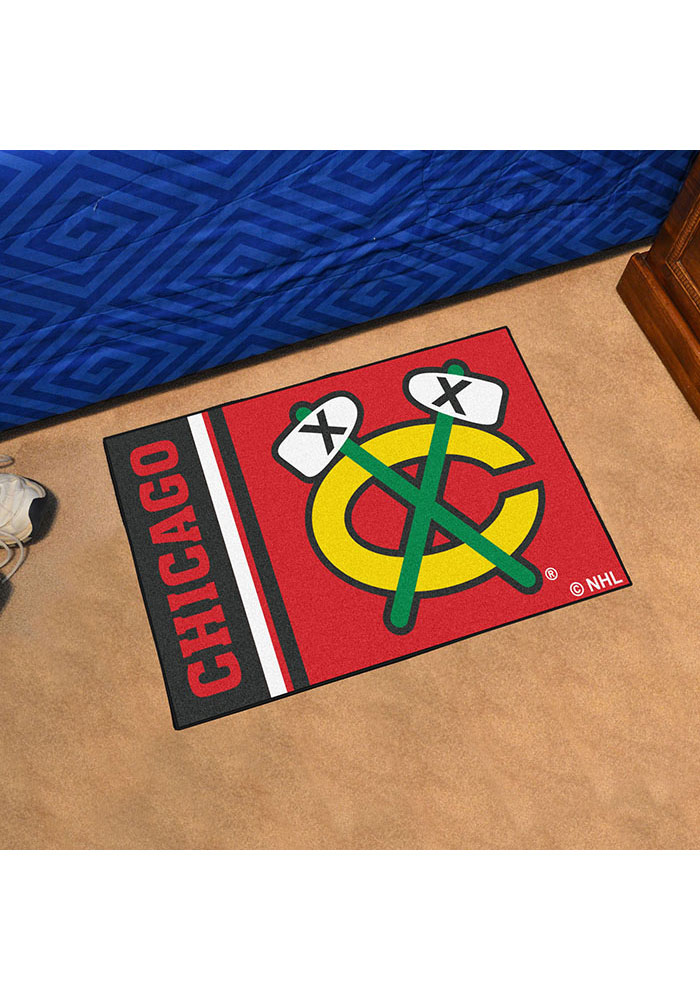 Chicago Blackhawks 19x30 Uniform Starter Interior Rug - Image 2