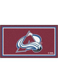 Colorado Avalanche 3x5 Plush Interior Rug