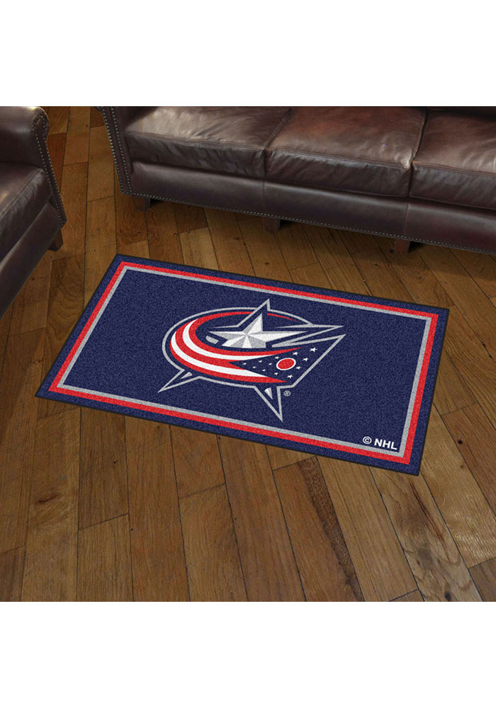 Columbus Blue Jackets 3x5 Plush Interior Rug - Image 2