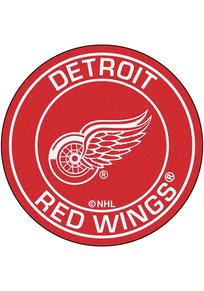 Detroit Red Wings 27 Roundel Interior Rug - Image 1