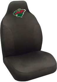 Sports Licensing Solutions Minnesota Wild Team Logo Car Seat Cover - Black
