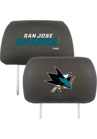 Sports Licensing Solutions San Jose Sharks 10x13 Auto Head Rest Cover - Black