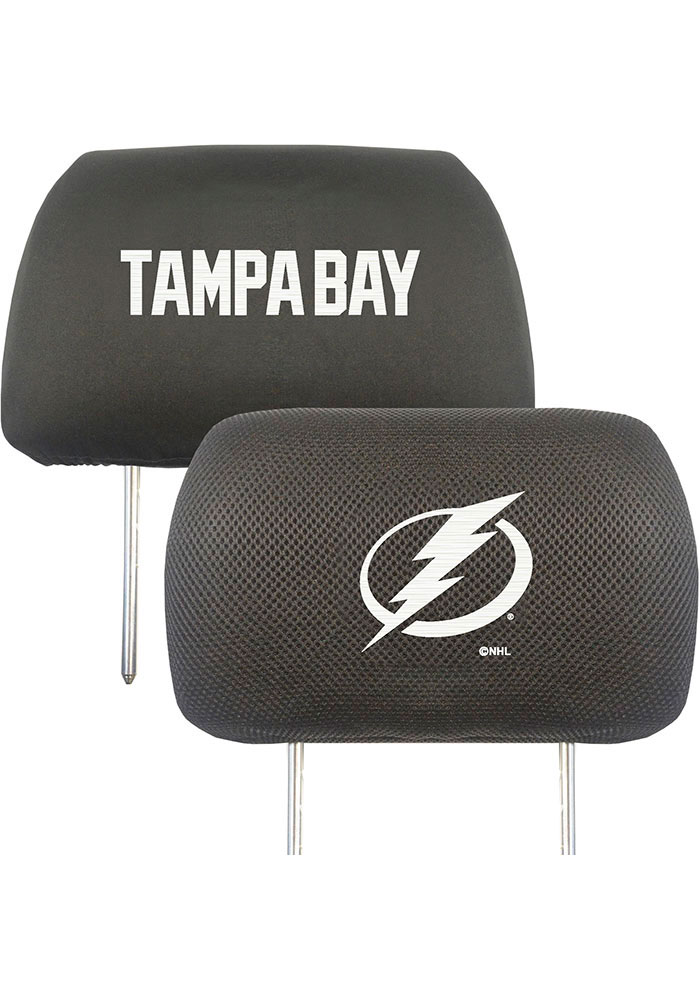Sports Licensing Solutions Tampa Bay Lightning 10x13 Auto Head Rest Cover - Black - Image 1