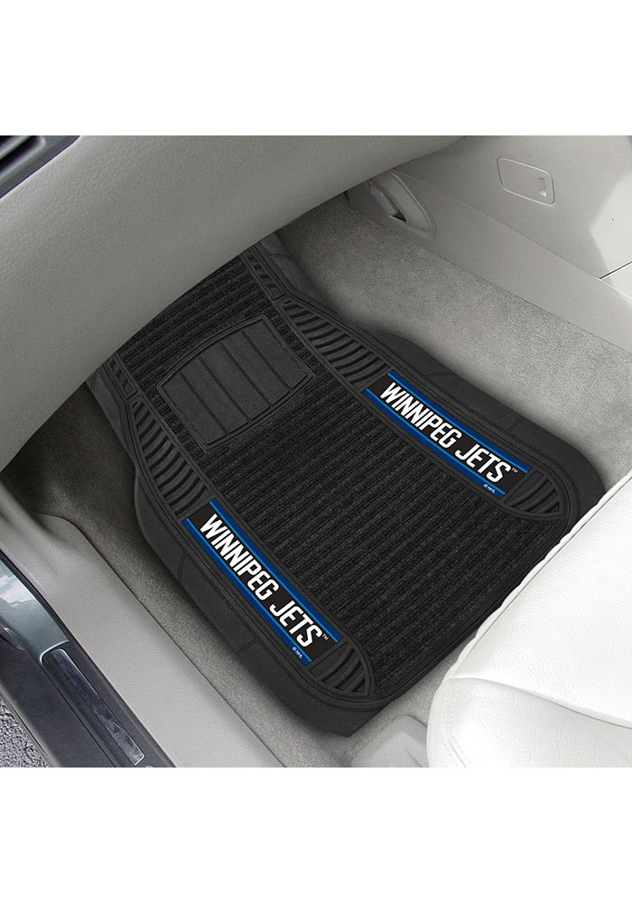 Sports Licensing Solutions Winnipeg Jets 20x27 Deluxe Car Mat - Black - Image 2