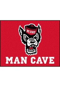 NC State Wolfpack 34x42 Man Cave All Star Interior Rug