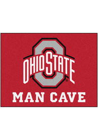 Ohio State Buckeyes 34x42 Man Cave All Star Interior Rug