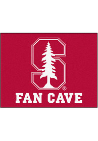 Stanford Cardinal 34x45 Fan Cave All Star Interior Rug