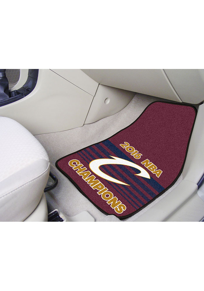 Sports Licensing Solutions Cleveland Cavaliers 2pc Carpet Car Mat - Image 1