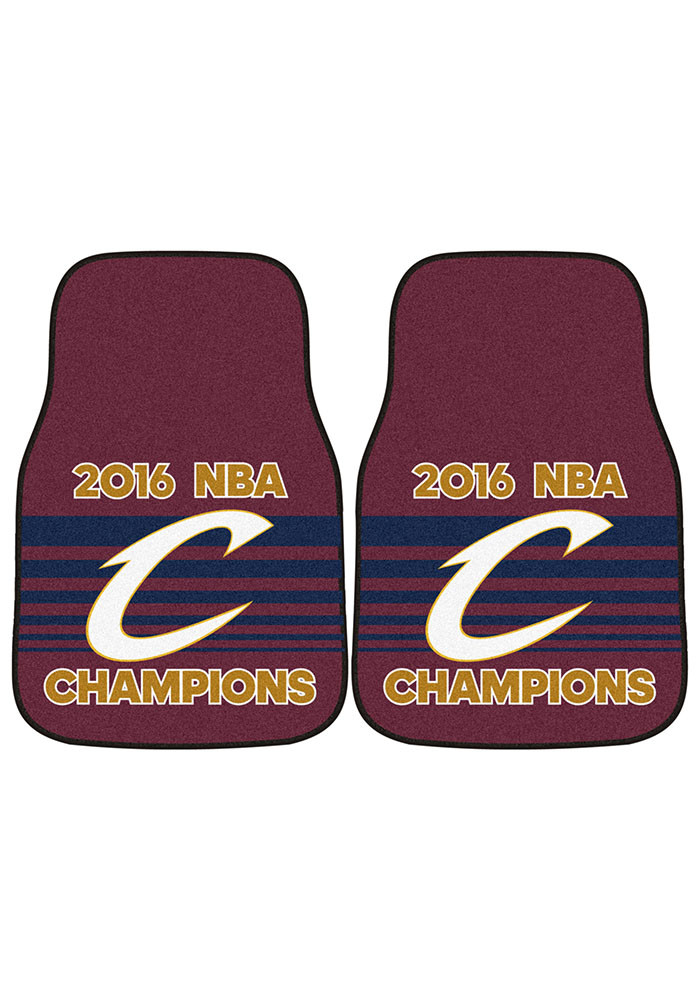 Sports Licensing Solutions Cleveland Cavaliers 2pc Carpet Car Mat - Image 2