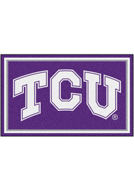 TCU Horned Frogs 4x6 Plush Interior Rug