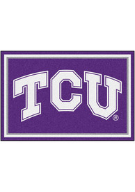 TCU Horned Frogs 5x8 Plush Interior Rug
