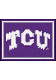 TCU Horned Frogs 8x10 Plush Interior Rug