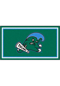 Tulane Green Wave 3x5 Plush Interior Rug