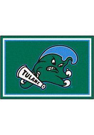 Tulane Green Wave 5x8 Plush Interior Rug