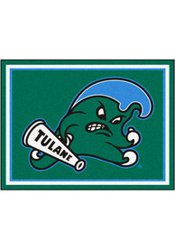 Tulane Green Wave 8x10 Plush Interior Rug