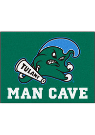 Tulane Green Wave 34x42 Man Cave All Star Interior Rug